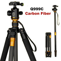 Trépied de caméra DSLR d'origine Fibre de carbone professionnel QZSD Q999C professionnel Monopied + Rotule Portable Photo Camera Stand Mieux que Q999 MOQ: 1PCS