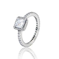 TIMELESS ELEGANCE silver rings cubic zirconia S925 Sterling ...