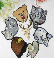 Утюг на патчи DIY вышитые патч наклейки для одежды Одежда ткань значки швейные знак собака волк egale дизайн
