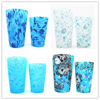 2017 new skull camo silicone pint glasses rubber mug unbreak...