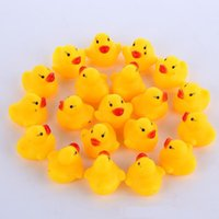 High Quality Baby Bath Water Duck Toy Sounds Mini Yellow Rub...