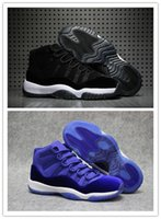 Wholesale New 11 Velvet Blue Royal Black Men Women Basketbal...