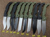10 tipos CUCHILLOS VOYAGER Cold Steel Serie XL-SIZE Cuchillo plegable grande utilidad supervivencia caza caza táctico cuchillos al aire libre Envío gratis.