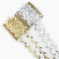 6 meters Gold sliver Silk Leaves Rattan Artificial Flowers v...