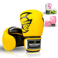 12 OZ PRETORIAN MUAY THAI TWINS PU LEATHER BOXING GLOVES FOR...