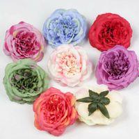 8 renkler Yapay Kumaş ipek çiçek Başlıkları Gül DIY malzeme Aksesuar çiçek asma kemer düğün çiçekleri diy Dikmeler A7212 dekorasyon