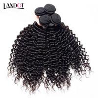8a Brasilianska Curly Virgin Hair Peruvian Malaysian Indian Mongolian Deep Jerry Curly Human Hair Weaves Buntar Billiga Remy Hair Extensions