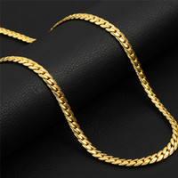 Nova Moda Elegante 5mm 46 cm-81 cm 18-32 polegada 18 K Banhado A Ouro Cadeias de Cobra Colar Clássico para Homens Mulheres Moda Jóias Presente para amigos