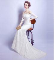 839750082d0a 2017 affascinante primavera estate sirena pizzo abito da sposa semplice  bianco vestido de novia personalizzato abiti
