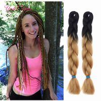 Marley Twist Hair Bundles 24 дюйма Джумбо Користы Синтетические плетеные Хари Два Тон Оммре Цвет Крючком Удлинения Коробка Крючком Плетена