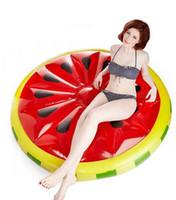 63 بوصة 1.6M العملاق البطيخ نفخ الليمون ركوب على بركة لعبة تعويم قابل للنفخ بركة سباحة الكبار السباحة الدائري يطفو الطوافات المائية