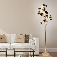 Europäische LED Stehleuchte einfache moderne Wohnzimmer Schlafzimmer Studie kreative Stehleuchte vertikale Keramik Beauty Salon Kristall Landelampen