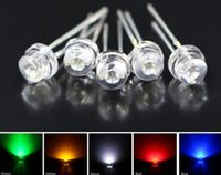 MIX 100 LED Rosso / Rosa / Viola / Blu / Bianco LED 5mm Cappello Diodo LED