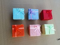 4 * 4 * 3 cm Assorted 120 Pçs / lote Jóias caixa de presente Embalagem para brincos de anel caixa de presente caixa de pacote