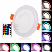 Acryl Dimmable Dual Color Weiß RGB Embeded LED Panel Licht 6W 9W 18W 24W Downlight Einbauleuchten Innenbeleuchtung mit Fernbedienung