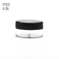 Черный 3g 5g косметический пластиковый банку многоразового использования губ масло крем образец бутылки пустой небольшой круглый лак для ногтей контейнер Бесплатная доставка