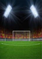 Sport Thème Terrain de Football Arrière-plans pour Photo Studio Lumineux Éclairage Vert Prairies Enfants Enfants Photographie Décors Vinyle