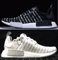 Hot- sell fashion black NMD R1 Running Sneakers Fashion Runni...