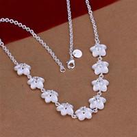 Commercio all'ingrosso - regalo di Natale di prezzi più bassi al minuto, trasporto libero, nuova collana d'argento di modo 925 uN149