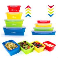 Houseware Lunch Box Faltbare Tragbare Lebensmittelqualität Silikon Schüssel Bento Boxen Folding Frischhaltedose Lunchbox Umweltfreundlich
