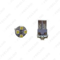 FEELDO 10 PCS Super Branco Electrodeless Plug T10 168 194 1210/3528 4SMD Carro Wedge Lâmpadas LED # 1640