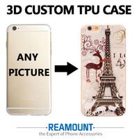350 adet / grup Moda 3D kabartma tasarım suluboya çizim telefon kılıfı Için iPhone 5 5 S SE 6 6 S 6 Artı 7 7 Artı yumuşak TPU kılıf
