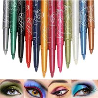 12 цветов Eyeliner Eye Liner Shimmer Eyeshadow Glitter Lip Pencil Pen Cosmetic Makeup Set Pro