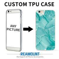 Cubierta de teléfono de piel de mármol personalizada para iPhone 6 6s 6 Plus 7 7 Plus Flexiable Funda de goma suave para teléfono celular