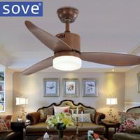 Sove Simple 48 Zoll Braun Moderne Deckenventilatoren Mit Beleuchtung  Fernbedienung Schlafzimmer Weiß Deckenventilator Lampe Home Ventilador