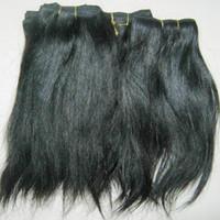 Gute Schwester Liebe Weave Verarbeitete indische gerade wellige natürliche haare 20 teile / los großhandel niedrigste Überraschung Preis