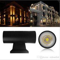 까지 아래로 이중 머리 조명 야외 벽 램프 실린더 6W 옥수수 속 10W LED 벽 빛 IP65 방수 현관 빛 AC85-265V