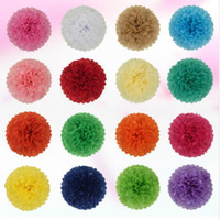 pompon Tissue Paper Pom Poms Flower Balls for wedding room D...