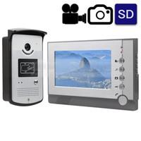 Video Record Photograph 7 inch Wired Video Door Phone Door.