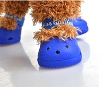 E89 الصيف كلب الأحذية الأزياء الكلب الأحذية الحيوانات الأليفة أحذية 4 قطعة / المجموعة 2017 جديد وصول شحن مجاني