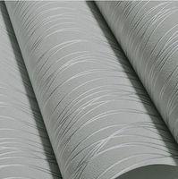 Wholesale-Non-Woven Mode dünne Beflockung vertikale Streifen Tapete für Wohnzimmer Sofa Hintergrund Wände Home Wallpaper 3D grau Silber