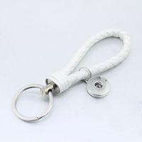 NOOSA 18mm bouton-pression porte-clés en cuir PU bouton en métal bouton-pression bijoux bijoux porte-clés porte-clés pour les femmes