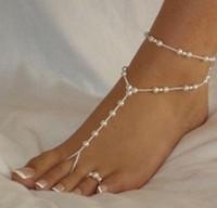 Европа и Соединенные Штаты новая горячая мода простой двойной слой пляж ножной браслет жемчужные ножные браслеты