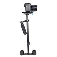 캐논 니콘 소니 DSLR 카메라에 대한 YELANGU S60L 조정 가능한 61cm 스테디캠 고품질 알루미늄 합금 카메라 안정제