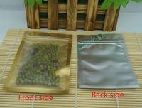 12 * 20 centimetri trasparente opaco trasparente sacchetto di plastica sacchetto di caffè-100pcs / lot interno dorato foglio di alluminio, sacchetto del biscotto antipolvere