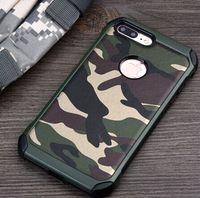 Cassa del telefono per iPhone 7plus 2in1 Armatura ibrida della copertura della plastica + TPU Army Camo mimetico per iPhone 7plus