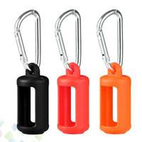 실리콘 케이스 탈지제 병 실리콘 가방 다채로운 고무 슬리브 보호 커버 실리카겔 피부를위한 액체 병 DHL 무료