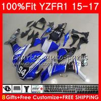 사출 성형기 YAMAHA YZF 1000 블루 블랙 YZF R 1 YZF-1000 YZF-R1 15 17 87NO11 YZF1000 YZF R1 15 16 17 YZFR1 2015 2016 2017 페어링 키트