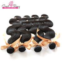Queen Hair Products Peruanisches Reines Haar 3pcs / lot Remy Menschliches Haar Webart Wellenförmige Körperwelle Freies Verschiffen Natürliche Farbe