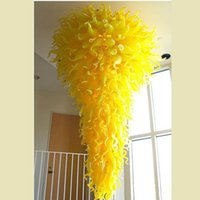 Luxury Large Chihuly Style Chandeliers Yellow China Factory ...