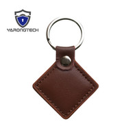 13. 56MHz HF ISO14443A MIFARE Classic 1K Brown Leather RFID K...