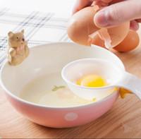 Mini separatore di tuorlo d'uovo bianco con divisore di uovo di supporto in silicone