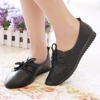 Women Flats PU Leather Casual Shoes For Women Lace Up Summer...