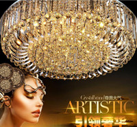 2017 Round-Kristalldeckenleuchte für Wohnzimmer Indoor-Lampe mit Ferngesteuertes luminaria Hauptdekoration Freies Verschiffen