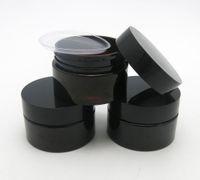50 x 30 g vacío Dark AMBER PET CUIDADO DE CUIDADO DE CUIDADO Tarro con tapas de plástico con inserto 1 oz recipiente cosmético