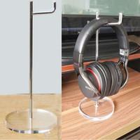 Freies Verschiffen Acrylunterseite-Kopfhörer-Ausstellungsstand stainess Stahlkopfhörer-Präsentationsständer-Kopfhörer-Aufhänger-Kopfhörer-Halter für AKG Monster